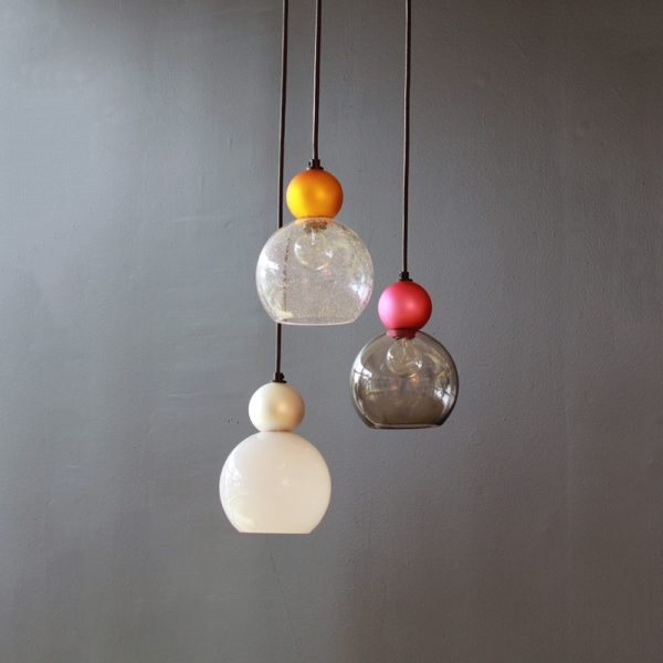 Adorn In Glass - Globe 06-S with pearl ball