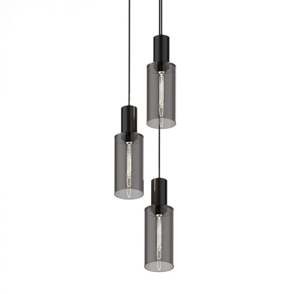 Adorn In Glass Cylinder-C triplet with black bobble