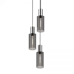 Adorn In Glass Cylinder-C triplet with silver bobble