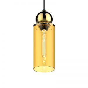Adorn In Glass Cylinder-S gold with round accessory