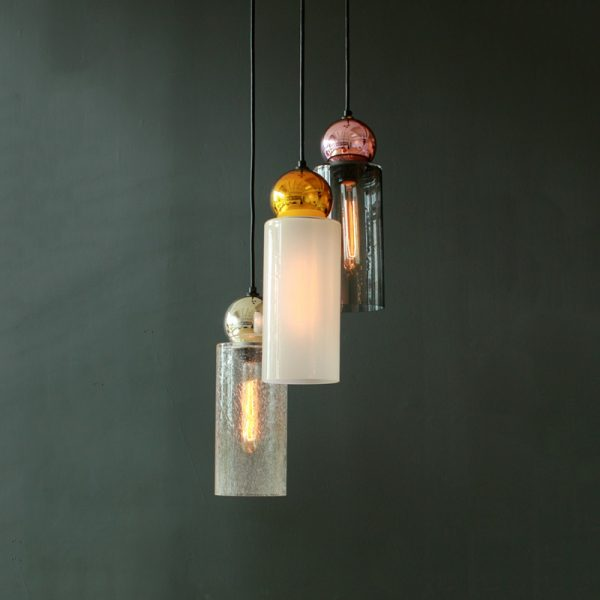Adorn In Glass Cylinder-S with mirror ball