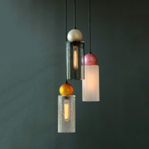 Adorn In Glass Cylinder-S with pearl ball