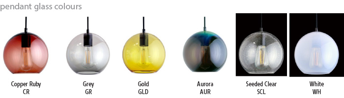 Aurora Pendant Colours