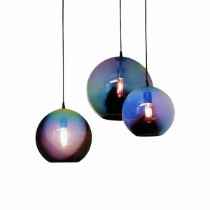 Aurora black iris globe lights