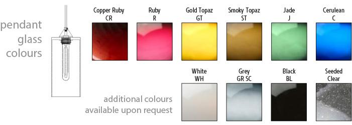 Domo Cylinder-D Pendant Colours