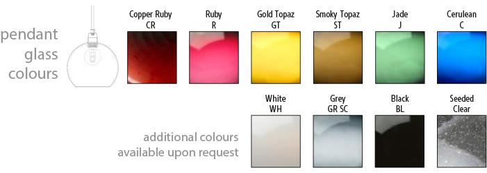 Domo Globe 06-D Pendant Colours