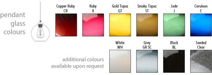 Domo Globe 08-D Pendant Colours