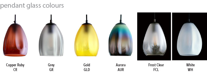Drape Pendant Glass Colours