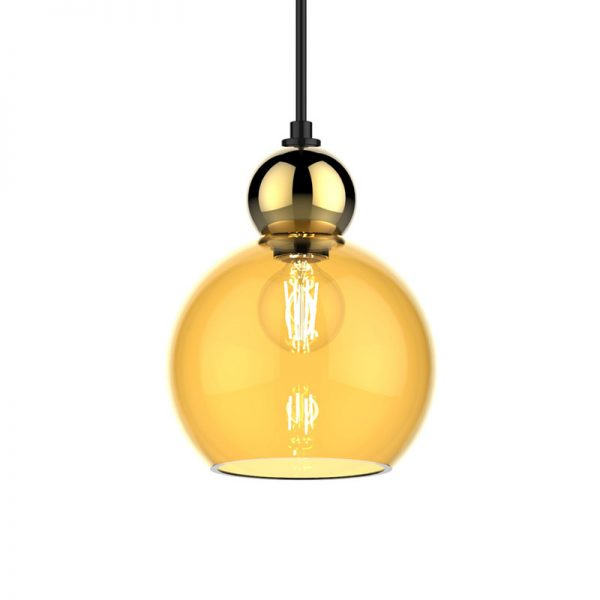 Adorn In Glass - Globe 06-S gold round ball